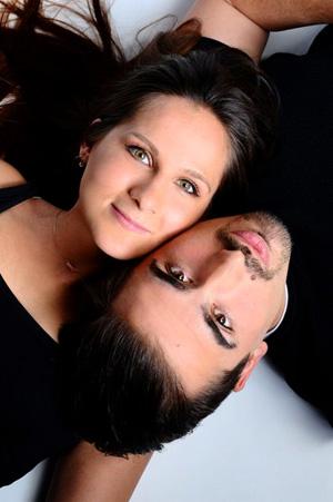Paar Fotoshooting mit Make Up und Styling