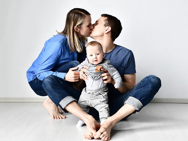 Familienfotografie im Fotostudio