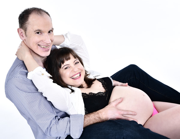 Babybauch Fotoshooting für Paare
